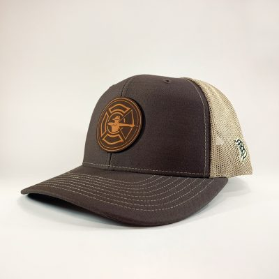 Brown / Khaki Trucker Hat - Tan Patch