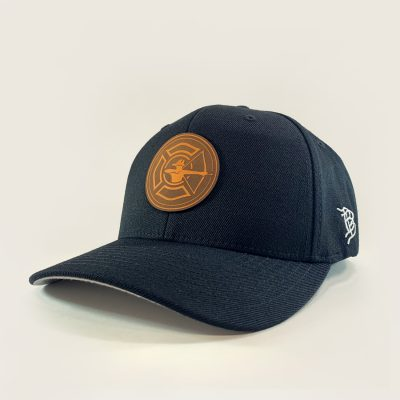 Heather Grey Flex Fit Hat - Fire Patch