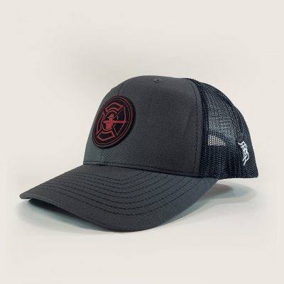 Charcoal / Black Trucker Hat - Fire Patch
